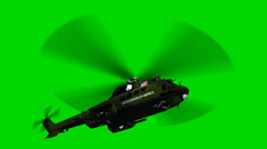 Helicopter Lockheed VH-71 Marine one in fly - seperated on green screen Stock Footage