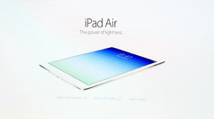 IPad Air, iPhone 5s, iPad mini Stock Footage
