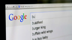 Searching on Google - stock footage