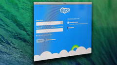 Sign In on Skype - stock footage