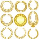 Stock Illustration of Laurel Wreaths