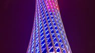 Stock Video Footage of Time lapse panning up the Canton tower in Guangzhou