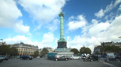 Bastille in Paris, France Stock Footage