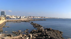 Gallipoli - Apulia - the south harbor - stock footage
