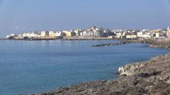 Gallipoli - Apulia - old town - stock footage