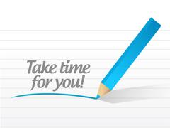 Take time for you message illustration design Stock Illustration