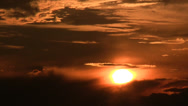 Stock Video Footage of Zoom out sunset and clouds