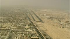Qatar  Desert and Road Stock Footage