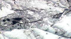 Melting ice sheet Stock Footage