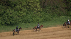 People on horses Stock Footage