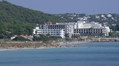 Hotel on Spanish coast Stock Footage