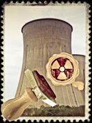 Stock Illustration of cooling towers of the nuclear power station