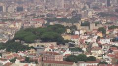 Castle of Sao Jorge Stock Footage
