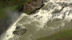 Gullfoss Waterfall  Iceland Stock Footage