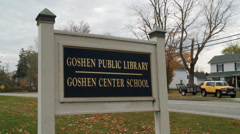 Goshen Public Library (3 of 3) Stock Footage