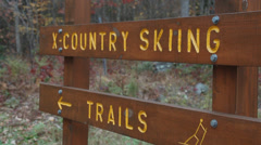 Sign for skiing (2 of 2) Stock Footage