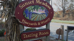 Sunset Meadow Winery (1 of 2) Stock Footage