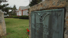 Goshen memorial to veterans (2 of 8) Stock Footage