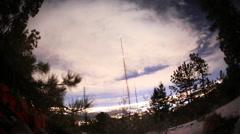 NIght Viivästys Denver puita ja radio torni Arkistovideo