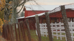 Large red cowshed (1 of 2) Stock Footage