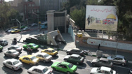 Stock Video Footage of Tehran, Iran, former US Embassy, hostage crisis 1979, compound, traffic