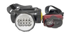 Small head-mounted flashlight Stock Photos