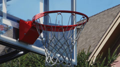 Outdoor basketball hoop (3 of 3) Stock Footage