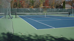 Private empty tennis courts (1 of 5) Stock Footage