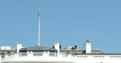 Security on top of The White House 4k Stock Footage