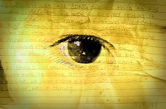 Close up of child eye, hope concept Stock Illustration