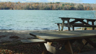 Stock Video Footage of Picnic table on the water (4 of 9)