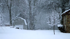 Winter Snow in Neighborhood Slow Motion - stock footage