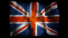 Union Jack Flag Stock Footage
