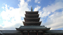 Temple Japan, Clouds TimeLapse Stock Footage