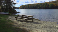 Stock Video Footage of Picnic table on the water (8 of 9)