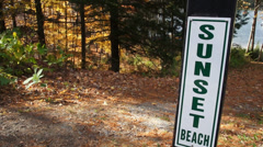 Sign for Sunset Beach (4 of 4) Stock Footage