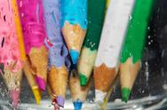 Stock Photo of wet color pencils