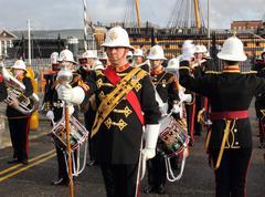 The royal marines marching band Stock Photos