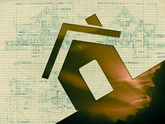 Stock Illustration of home, sky clouds, concept