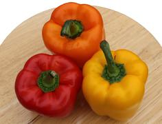 Colorful Bell Peppers - stock photo