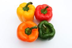 Stock Photo of Colorful Bell Peppers