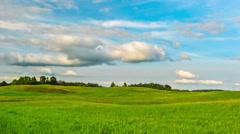 Summer Landscape,  timelapse Stock Footage
