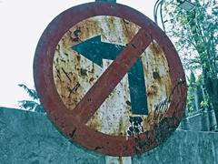 Stock Photo of road signboard showing no entry