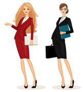 business woman - stock illustration