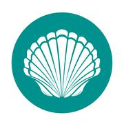 Scallop sea shell Stock Illustration