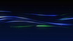Background greenblue streaks loop Stock Footage