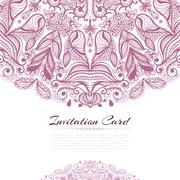 Stock Illustration of rose invitation