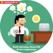 Business inspirations workday Stock Illustration