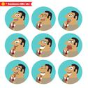 Stock Illustration of boss facial emotions
