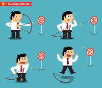 Business goal statuses Stock Illustration